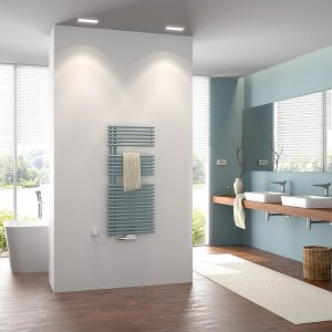 Handtuchwärmer gibt es als Warmwasserversionen, im Mixbetrieb oder als rein elektrische Varianten. Foto: zvg