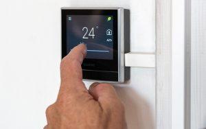 Smart Thermostat ist einfach zu bedienen. Foto: Siemens Schweiz AG