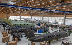 Die Montagehalle bei der Pilatus Aircraft. Foto: zvg