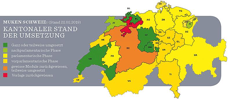 MUKEN Kantone (Stand 22.2.2019). Grafik: zvg