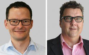 Neue Funktionen bei der SALTO Systems AG: Andreas Neher, Verkaufsleiter, Daniel Graf, Key Account Manager. Foto: zvg