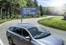 Photovoltaik unsichtbar in ein Autodach integriert: Die Morpho-Color-Glasbeschichtung ermöglicht eine Anpassung der Farbe an das Fahrzeug. Foto: Fraunhofer ISE