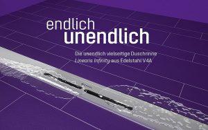 Neue Duschrinne Linearis Infinity von KESSEL. Foto: KESSEL