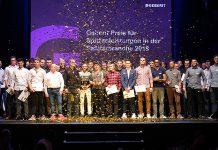 Erfolgreicher Nachwuchs: Alle Gewinner des Geberit Preis für Spitzenleistungen 2019 in der Sanitärbranche. Foto: zvg