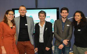 Das Kernteam der SmartCity Alliance (v.l.n.r.): Franziska Steidle-Sailer, Raimund Neubauer, Anne-Claire Pliska, Onur Yildirim, Nathalie Stübi. Foto: zvg