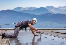 Solaranlage Dreilinden. Foto: CKW