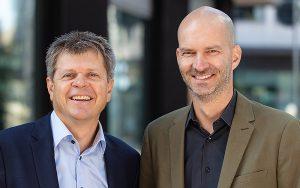 SEL-Präsident Jürg Grossen (links) und SEL CEO Tobias Stahel.