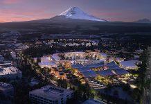 Woven City – Stadt der Zukunft. Visualisierung: Toyota