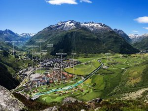 Der Masterplan von Andermatt. Foto: zvg