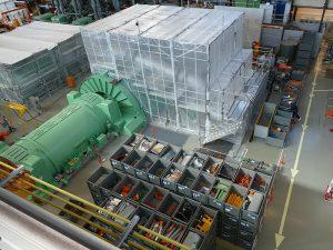 Blick in das Maschinenhaus. Foto: BKW