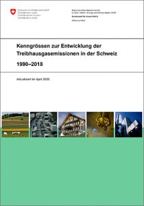 Download: Kenngrössen zur Entwicklung der Treibhausgasemissionen in der Schweiz.