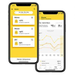 Die App «NeoVac myEnergy» informiert transparent über den Energieverbrauch einer Einheit und animiert die Bewohner zur Optimierung der persönlichen Energiebilanz. Energie- und Wasserkostenabrechnungen können direkt heruntergeladen werden. Push-Benachrichtigungen warnen bei einem starken und/oder nicht nachvollziehbaren Verbrauchsanstieg.