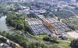 Das gesamte Abwasser der Stadt Zürich wird im Klärwerk Werdhölzli gereinigt. Jährlich sind das bis zu 80 Millionen Kubikmeter Abwasser. Foto: ERZ