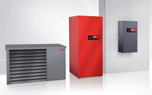 Die neue Wärmepumpe Hoval Belaria pro ist dank Monoblock-Bauweise besonders montagefreundlich.