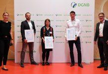 Die drei Gewinner der DGNB Sustainability Challenge. Foto: DGNB