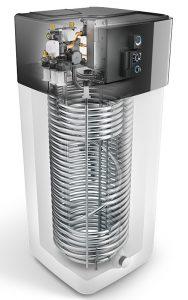 Die neue Luft-Wasser-Wärmepumpe HPSU High Temp Compact Ultra, hier im Querschnitt abgebildet, ist hervorragend für die Sanierung geeignet. Foto: Domotec AG