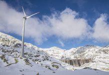 Der Gotthard-Windpark wurde eingeweiht. Foto: AET