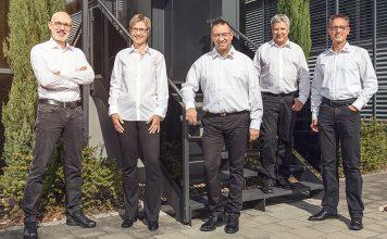 Die neue Geschäftsleitung mit Roland Obrecht, Silvia Grünig, Marco Andreoli, Urs Münger, Claudio Müller (v.l.n.r.). Foto: CTA