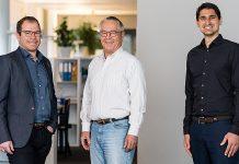 Das Führungsteam der Vadea AG Wallisellen besteht ab 01.01.2021 aus Roman Schläpfer, Roman Fäh und Ivan Sebastiano (v. l. n. r.). Foto: Hälg Group