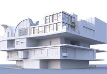 Die zweistöckige STEP2-Unit wird auf der obersten Plattform des NEST-Gebäudes gebaut. Visualisierung: ROK Architekten