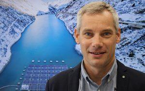 Guillaume Fuchs, Projektleiter Solarkraftwerk Lac des Toules bei Romande Energie.