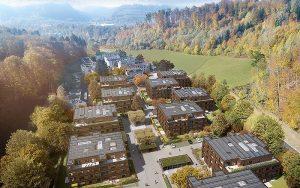 Für das Quartier Fischermätteli in Burgdorf BE realisiert ewz derzeit ein innovatives Energielösungskonzept. Foto: Strüby Konzept AG