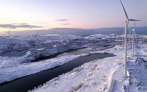 Windpark Måkaknuten in Norwegen mit 22 Windanlagen. Foto: ewz