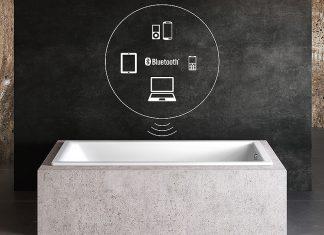 SOUND WAVE gibt jede Form von Audio-Dateien via Bluetooth® vom Smartphone, Laptop, Tablet oder PC wieder. Foto: Kaldewei