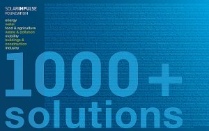 Bertrand Piccards Solar Impulse Stiftung verkündet 1000+ profitable Lösungen zur Bekämpfung des Klimawandels.