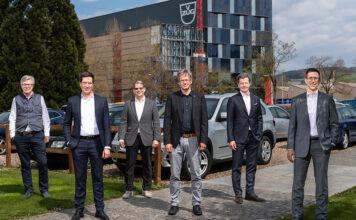 Multi Energy Zug AG (v.l.n.r.): Martin Wipfli (Verwaltungsrat), Urs Rhyner (Verwaltungsratspräsident), Andreas Widmer (Verwaltungsrat), Beat Weiss (Verwaltungsrat), Andreas Ronchetti Salomon (Verwaltungsrat), Roman Tschanz (Geschäftsführer). Foto: fotozug.ch