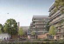 Hauptzugang zum Campus Horw. Visualisierung: Architekturbüro Penzel Valier AG