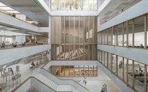 Innenansicht Campus Horw. Visualisierung: Architekturbüro Penzel Valier AG