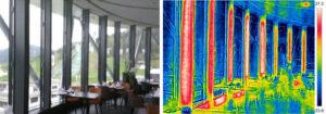 Die abschliessende Funktionskontrolle der Wärmestrahlung mittels Infrarotmessung bestätigt die während der Planung simulierten thermischen Werte. Fotos: KST AG