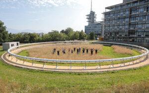 Die EPFL und ihr Start-up Swisspod bauen auf dem Campus in Ecublens eine Anlage, um die ultraschnelle Vakuumtransporttechnologie zu testen. Foto: EPFL