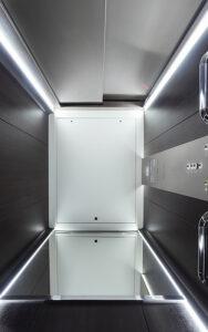 Der neue Aufzug GEN360 von OTIS. Foto: Arnaud Février