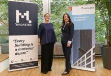 Marloes Fischer, Geschäftsführerin Madaster Services Schweiz (links) und Beatrice Landolt, Head Construction & Facility Management der Wincasa AG. Foto: zvg